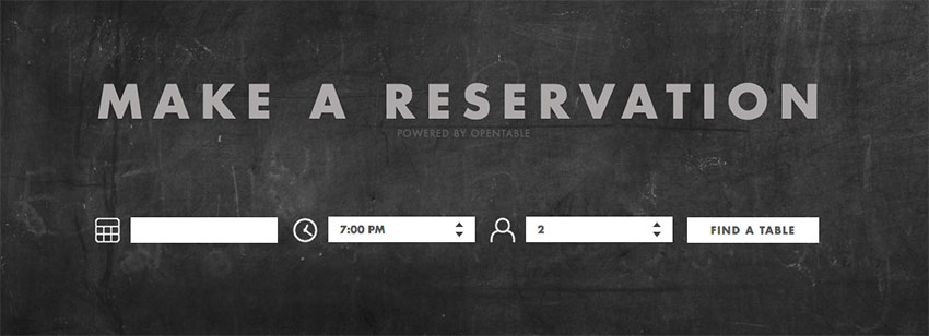 TOCA restaurant website