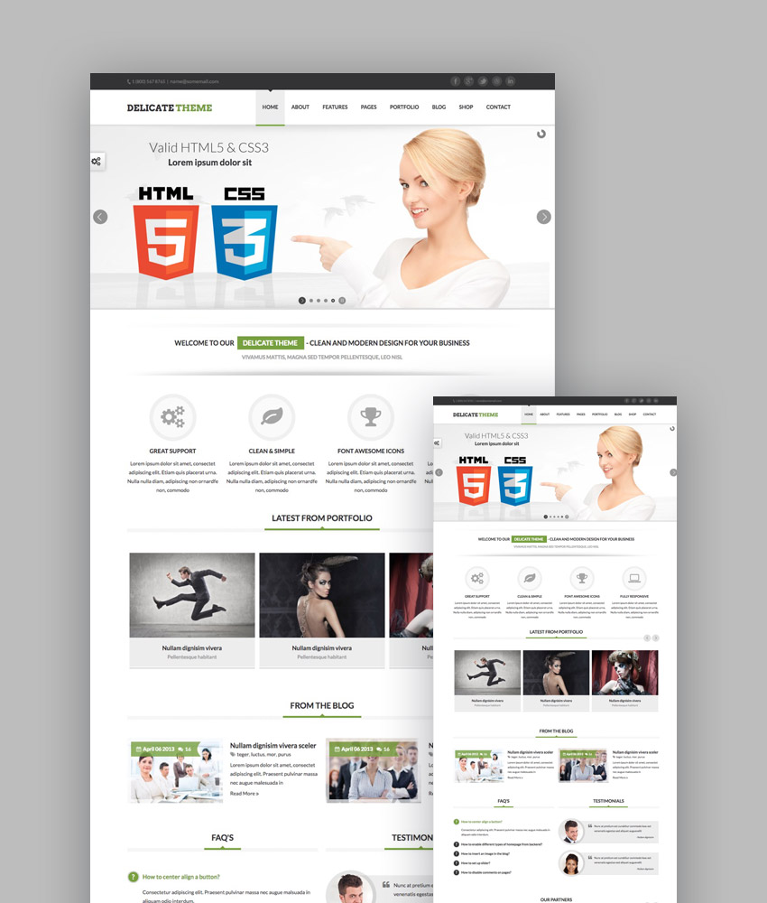 20 best responsive html5 website design business templates delicate elegant responsive website template friedricerecipe Image collections