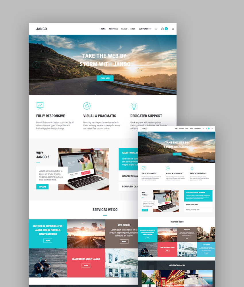 20 best responsive html5 website design business templates