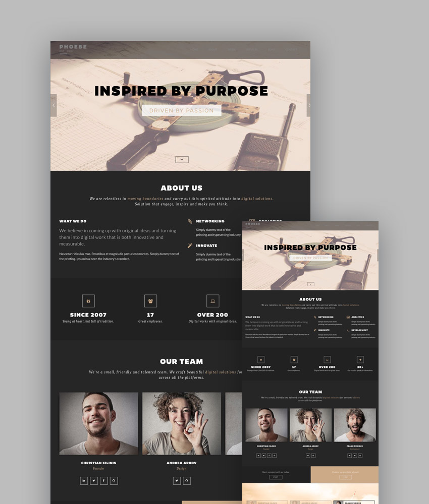 Phoebe HTML5 template