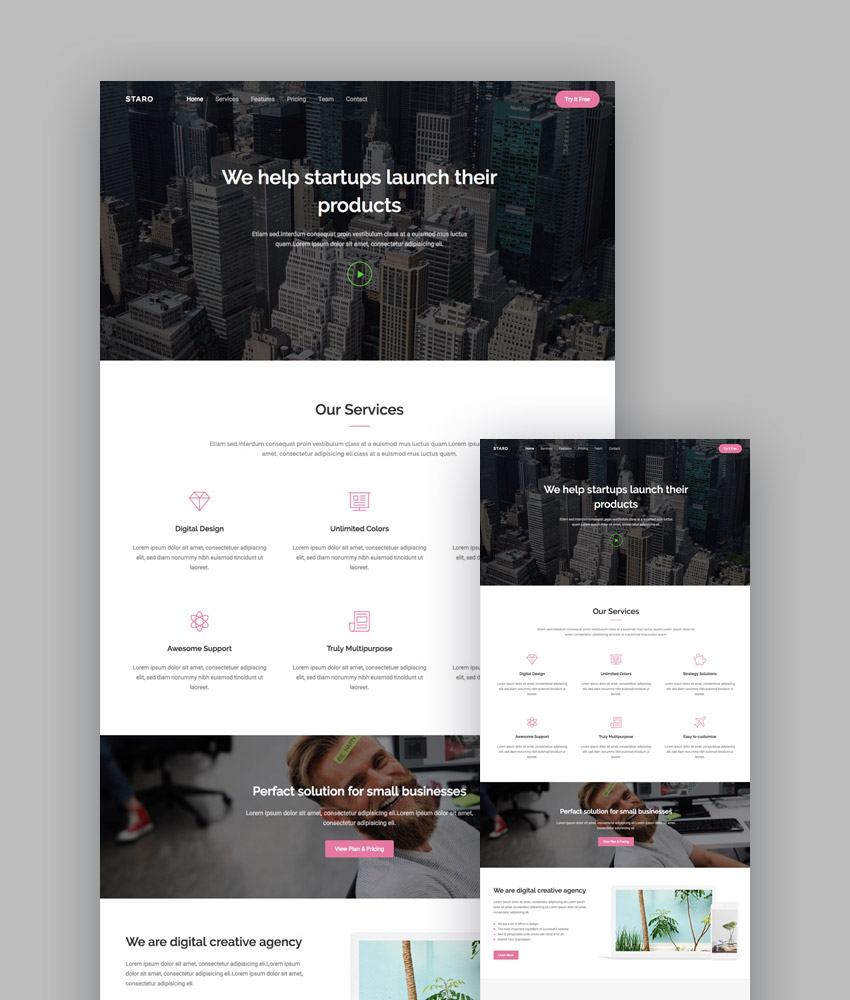 Staro app and agency template