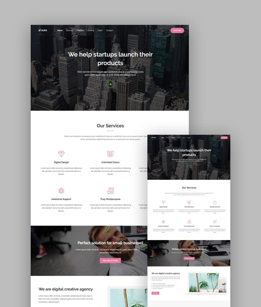 Las 20 mejores plantillas de negocio de diseño web HTML5 receptivo