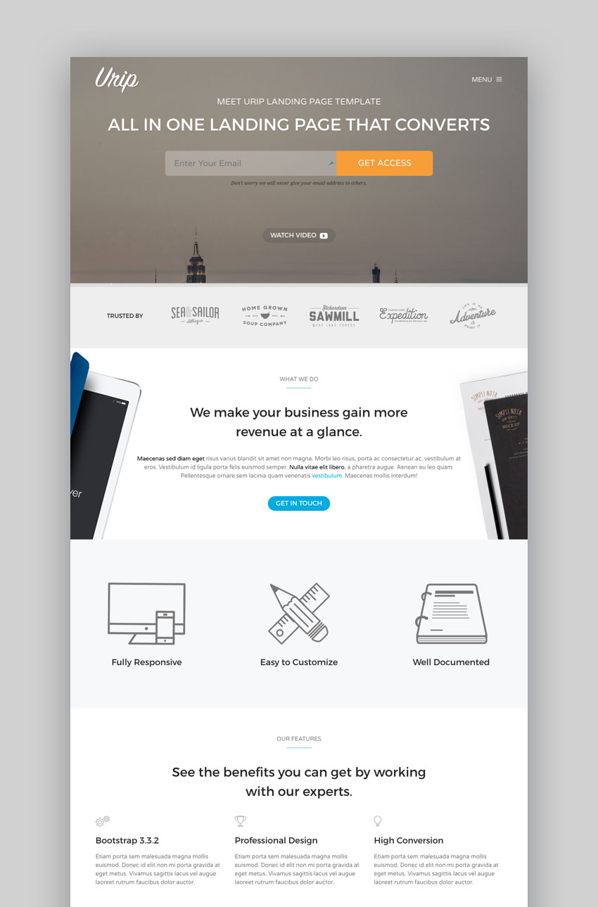 Best Landing Page WordPress Themes For Websites - Wordpress landing page template