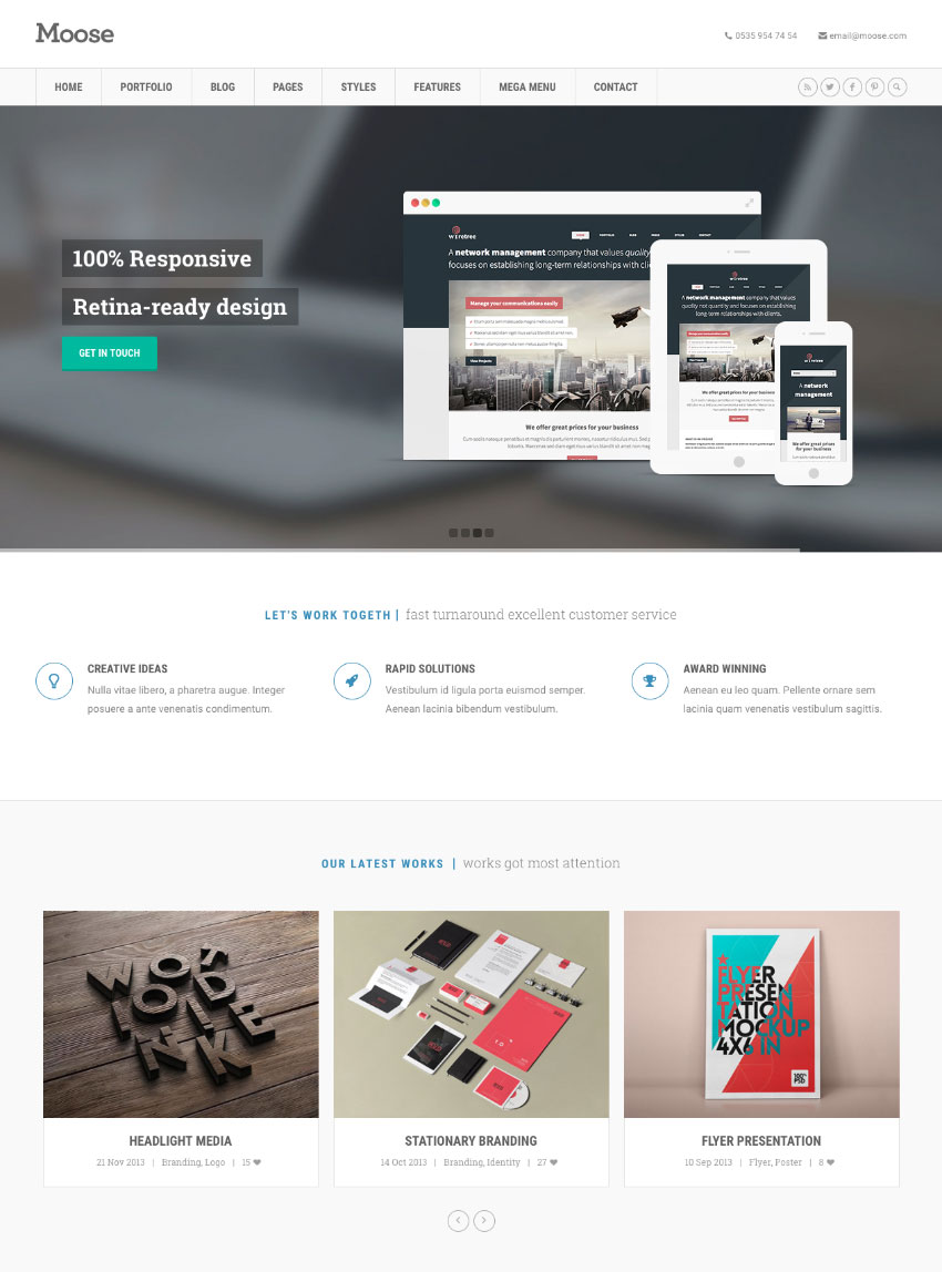 Moose HTML responsive website template