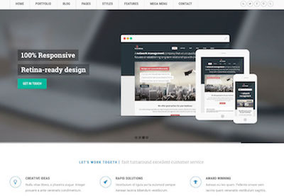 Responsive template preview