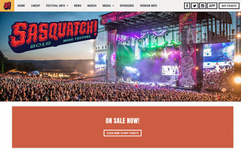 Sasquatch Responsive Website Example