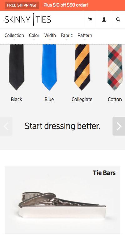 Skinny Ties mobile