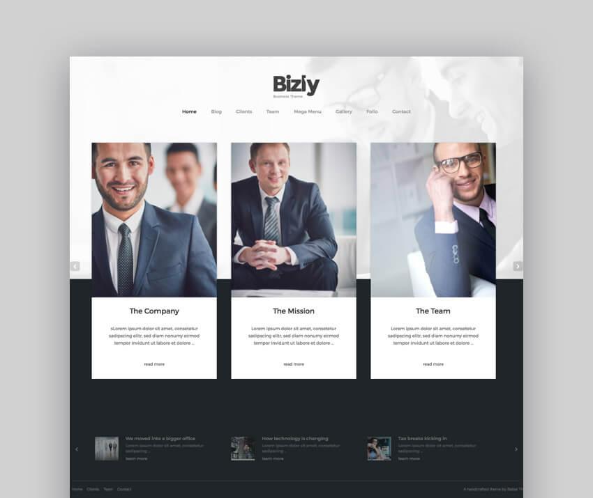Bizarre Business WordPress Theme