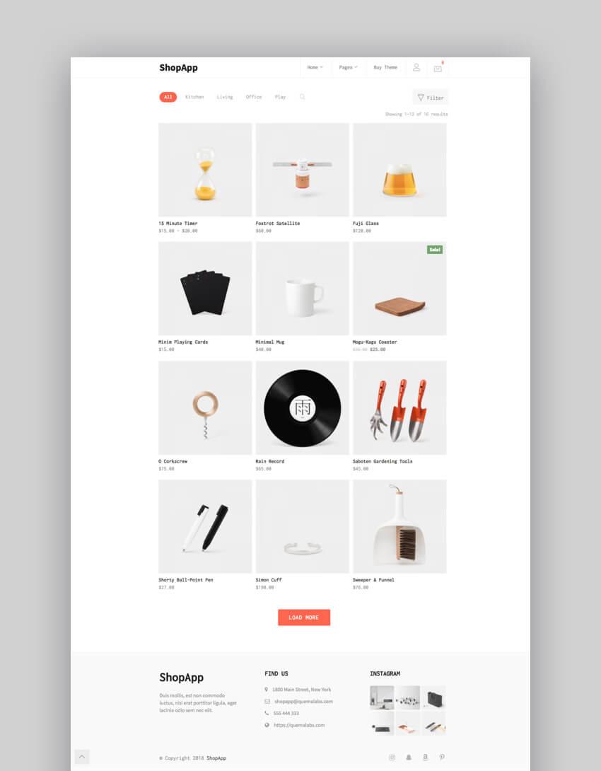 Tema aziendale e-commerce ShopApp