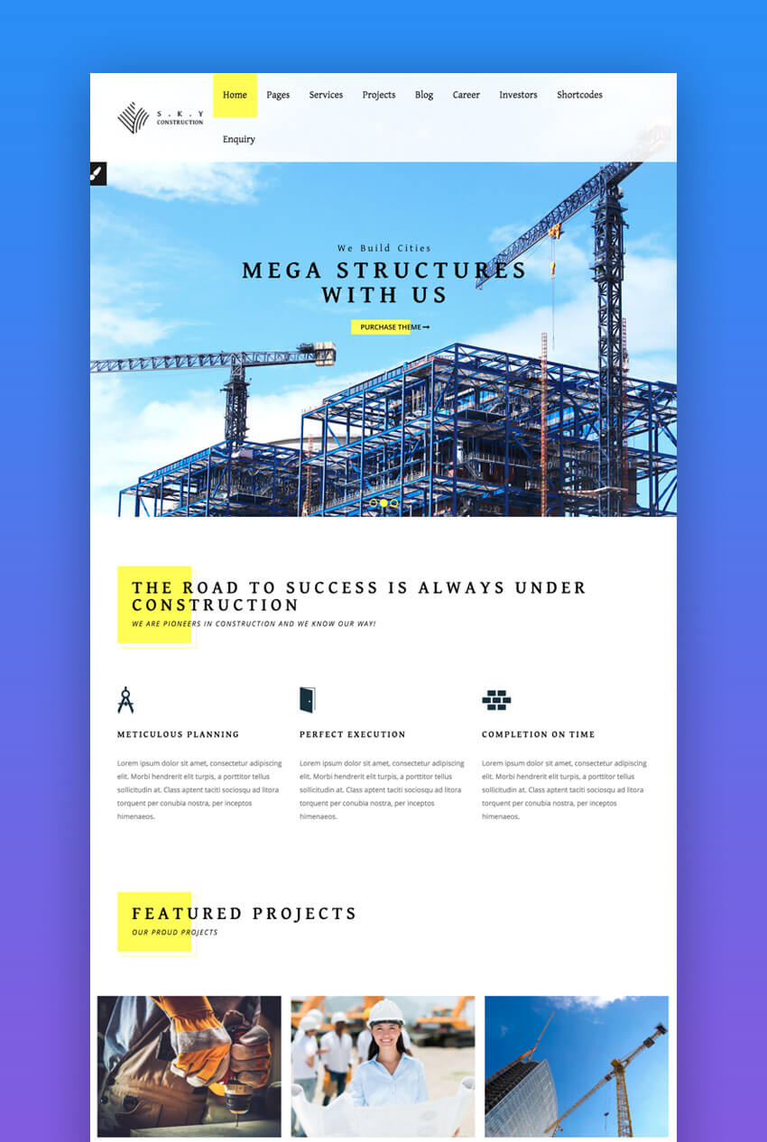Construction, elegante tema WordPress para la construcción