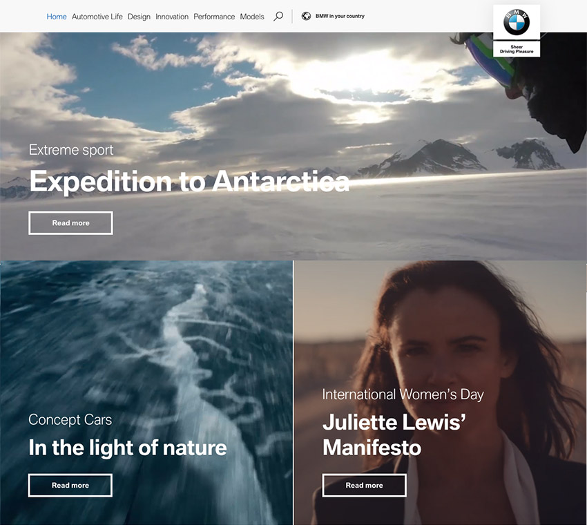 BMW Web Responsive Design