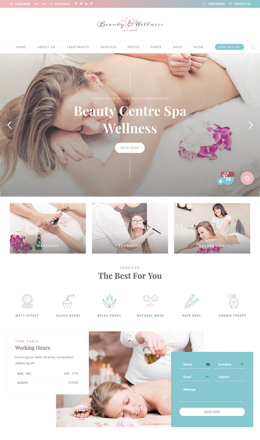 Beauty and Wellness Theme