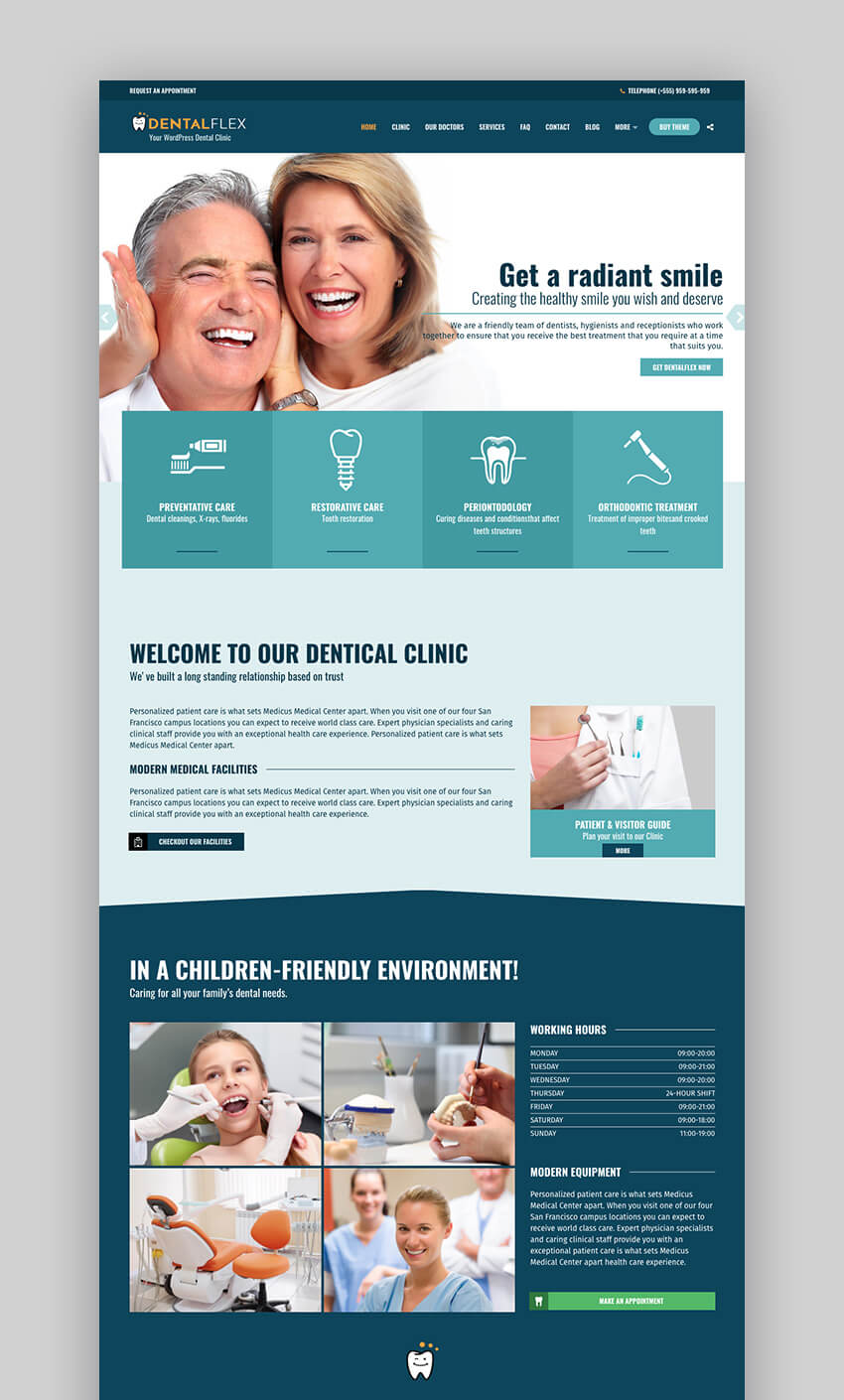 Healthflex Medical Doctor Appointment WordPress theme