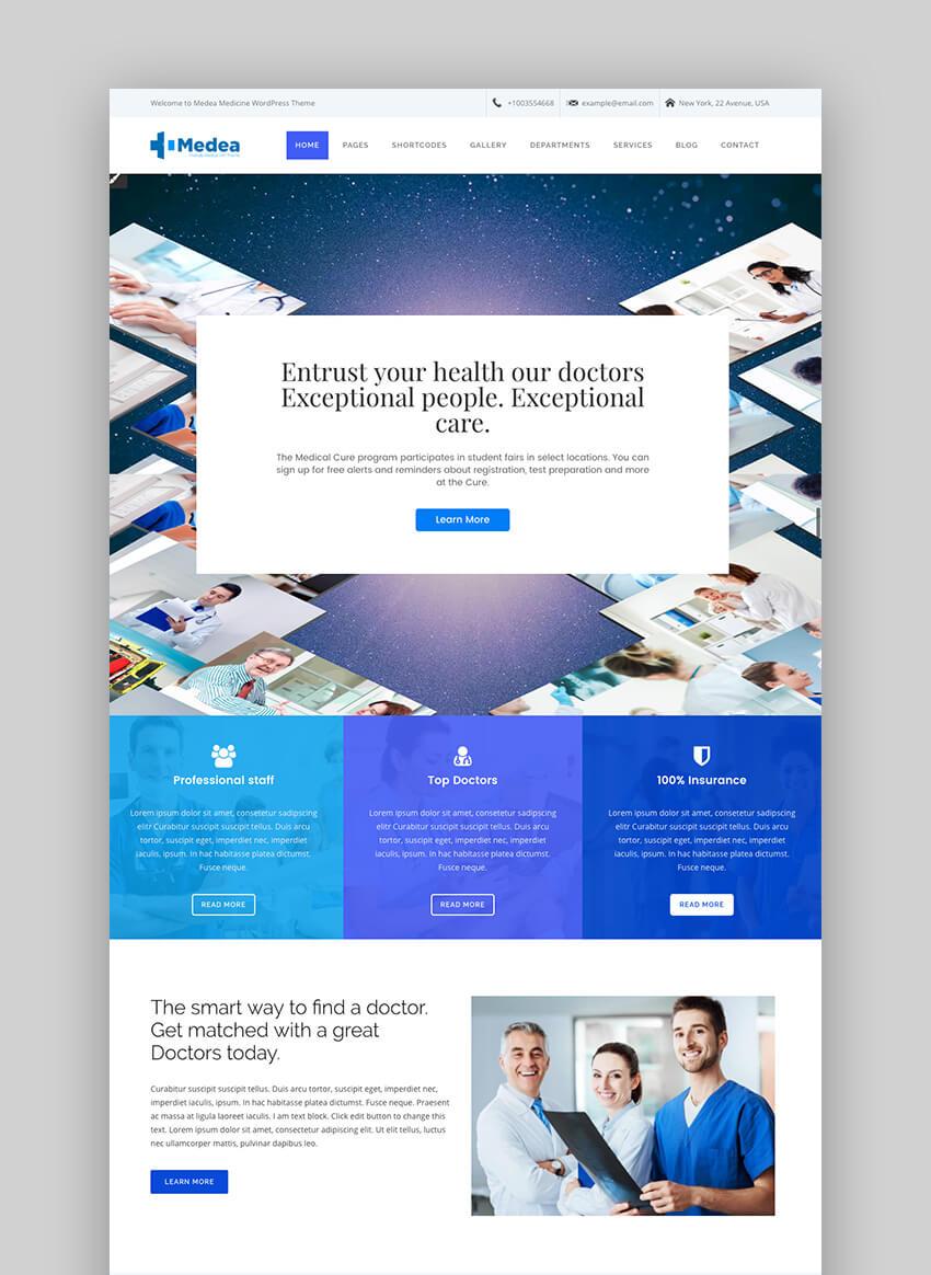 Medea health WordPress theme