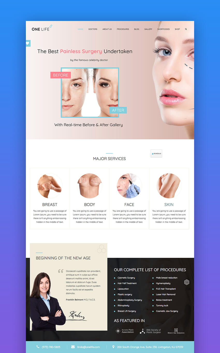One Life Medical WordPress theme