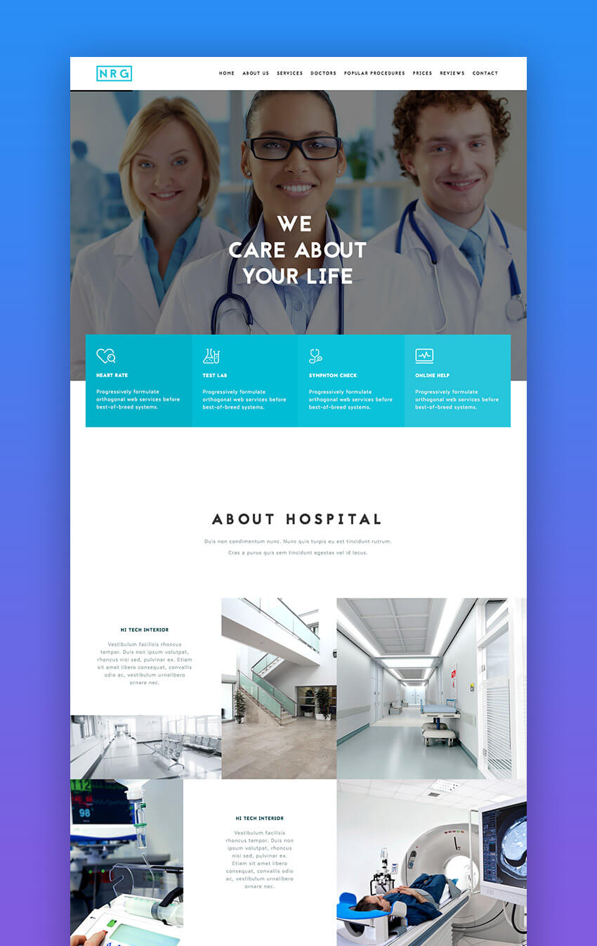 The Hospital medical WordPress theme