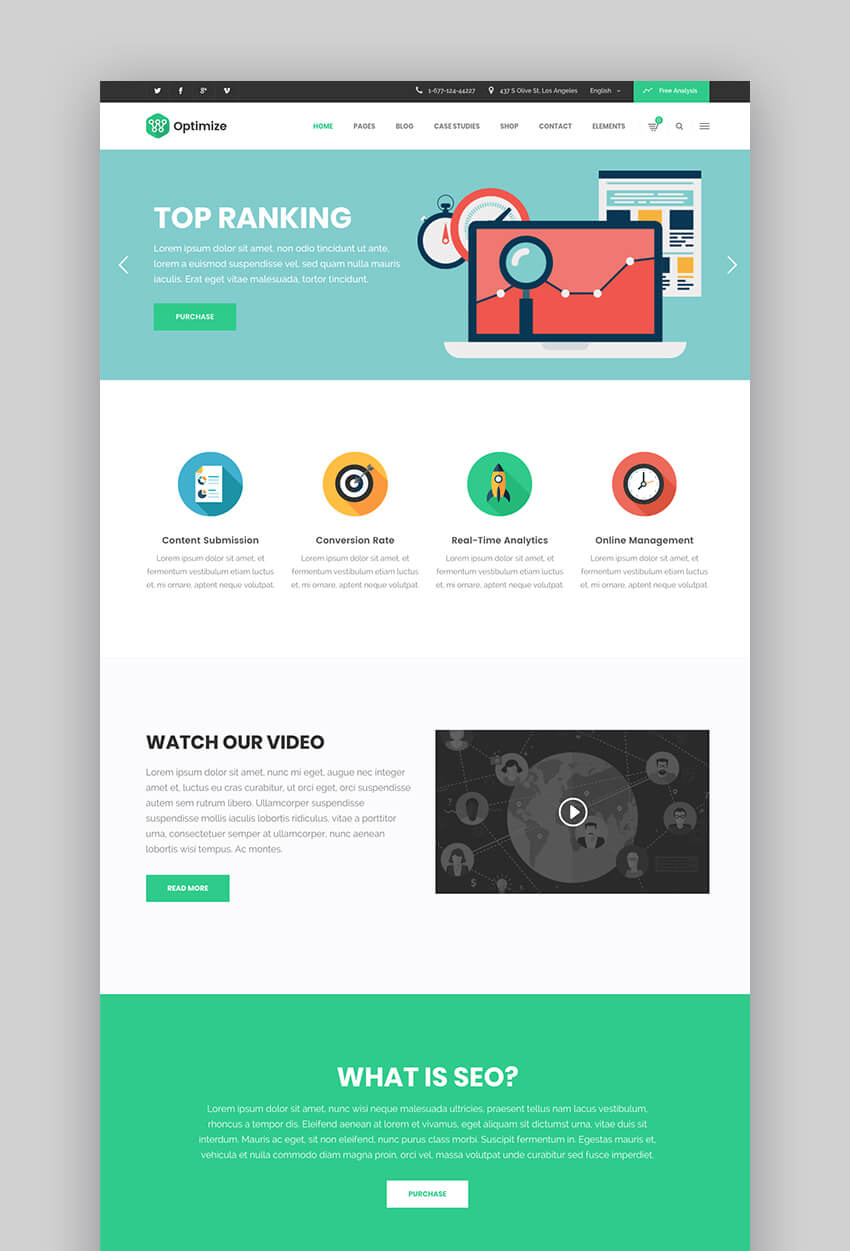 Optimize muli-concept SEO WordPress theme