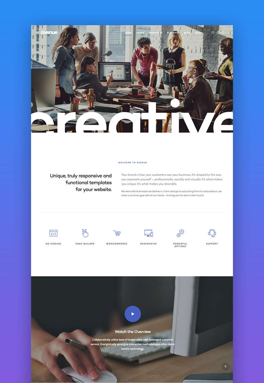 Avenue creative WordPress theme