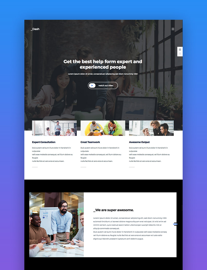 Dash wordpress business theme