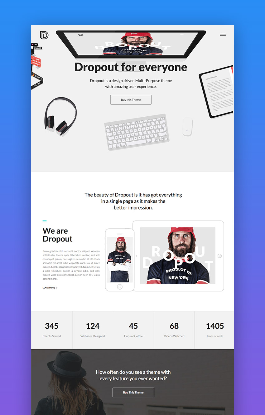 Dropout creative theme