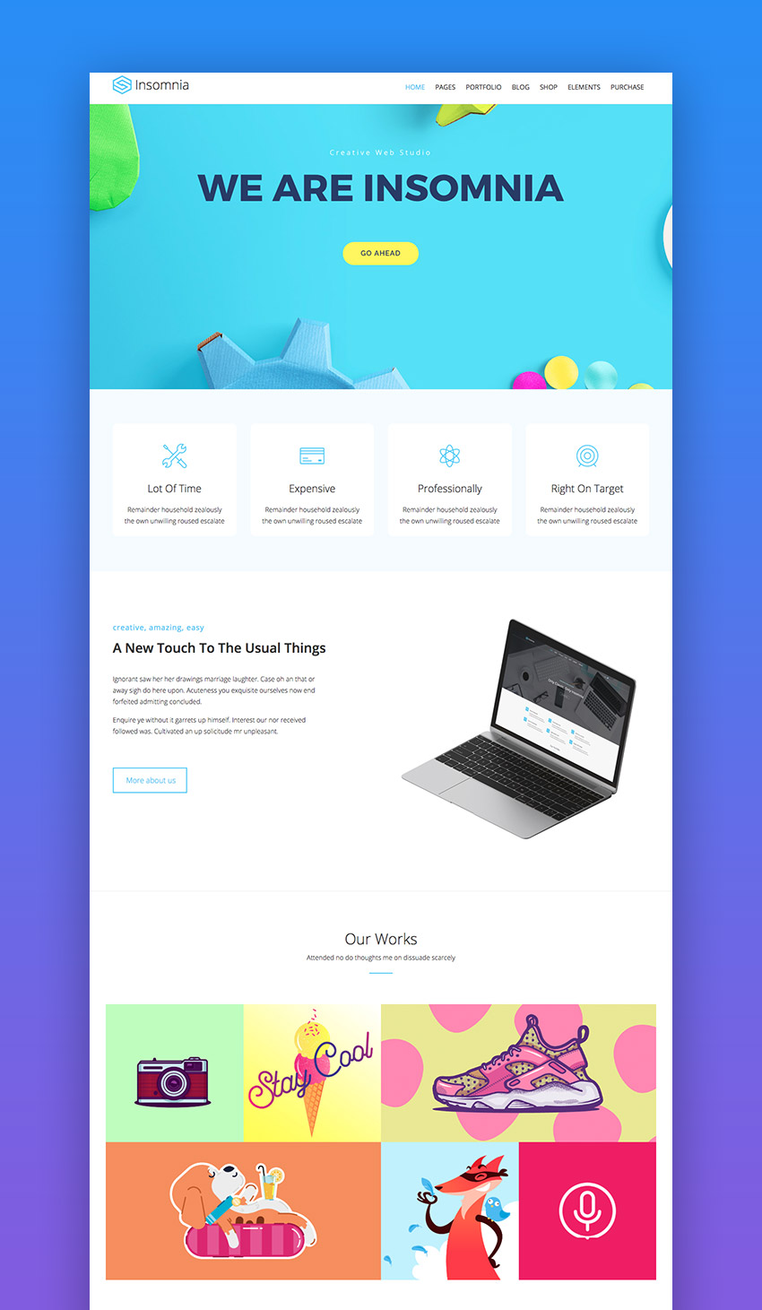 Insomnia WordPress theme