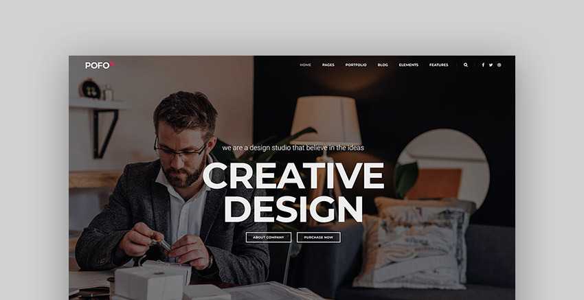 Pofo creative blog and portfolio WordPress theme