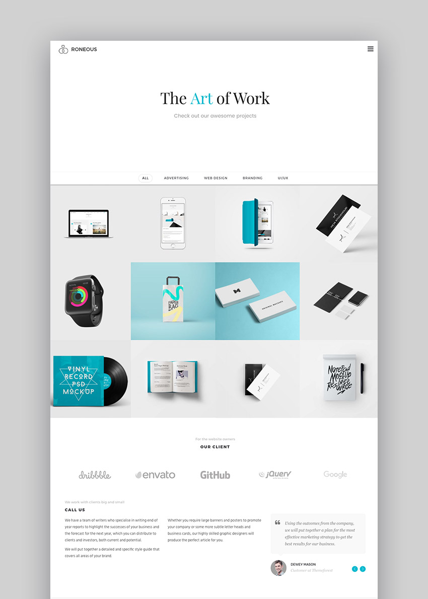 Roneous Creative WordPress Theme