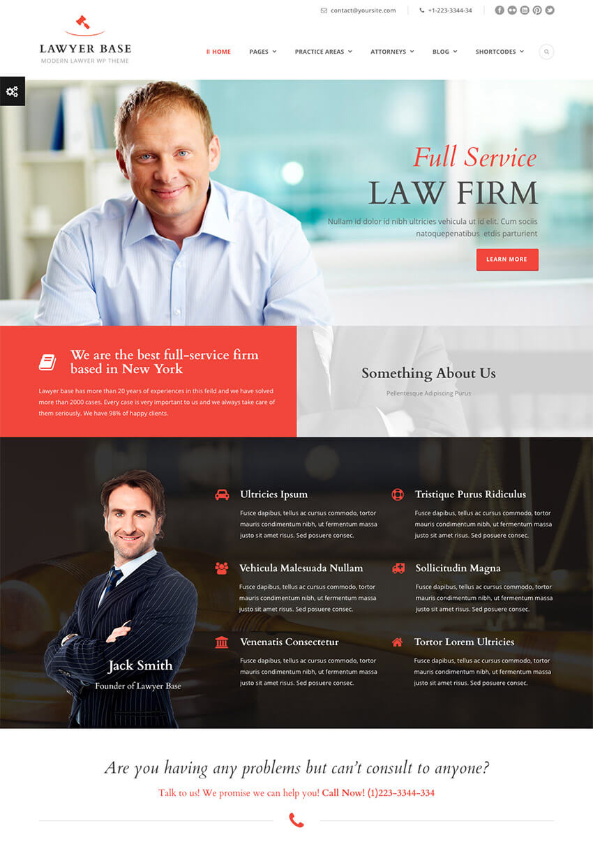 Tema WordPress Lawyer Base