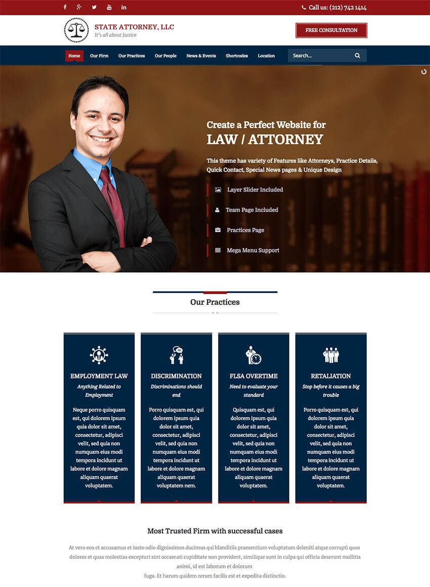 Plantilla HTML5 para web de abogados