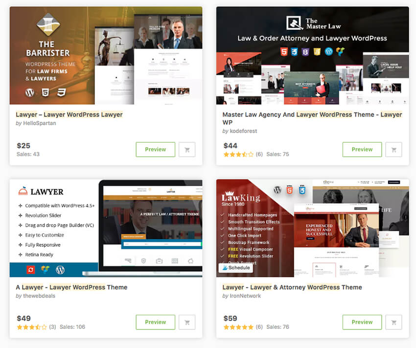 WordPress lawyer themes