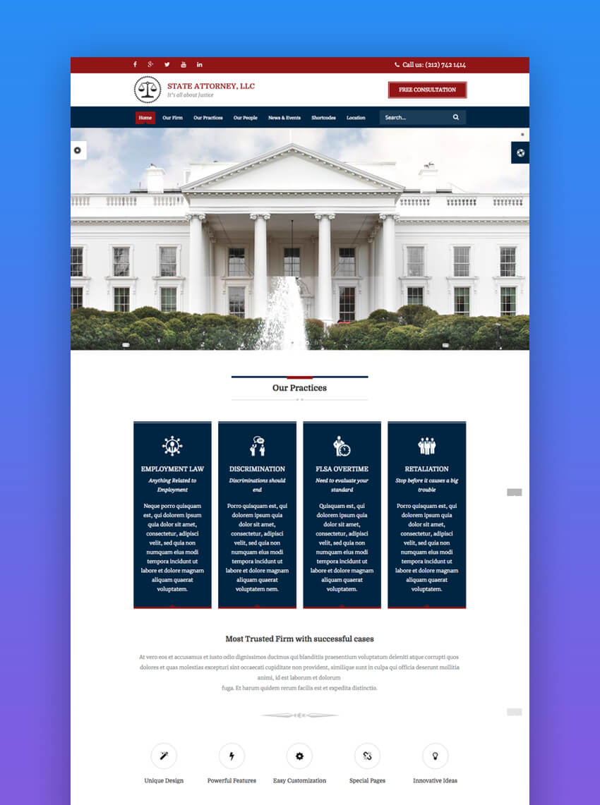 Attorney Law modern website template