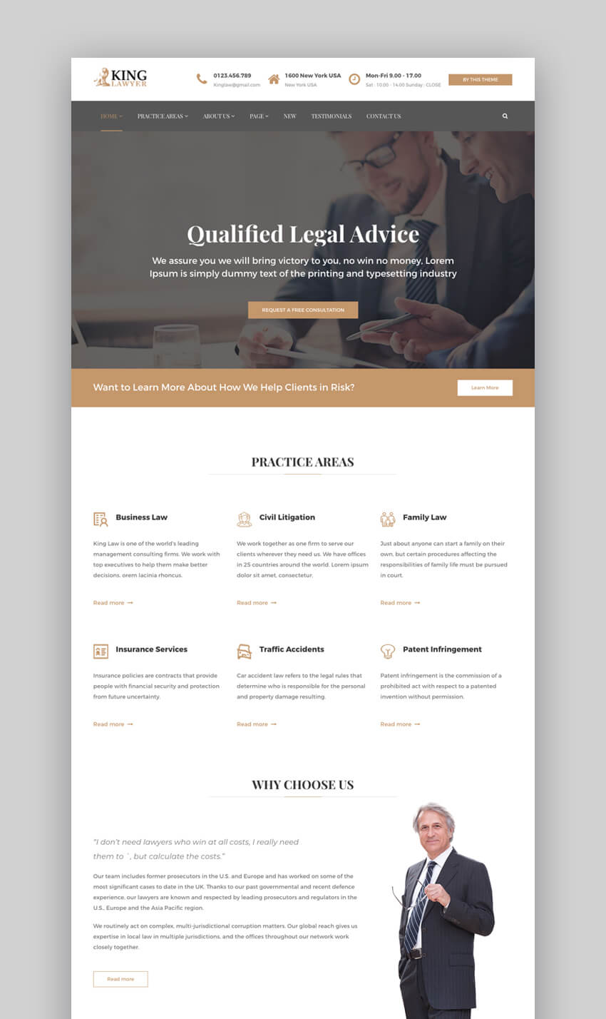 Kinglawyer HTML website template