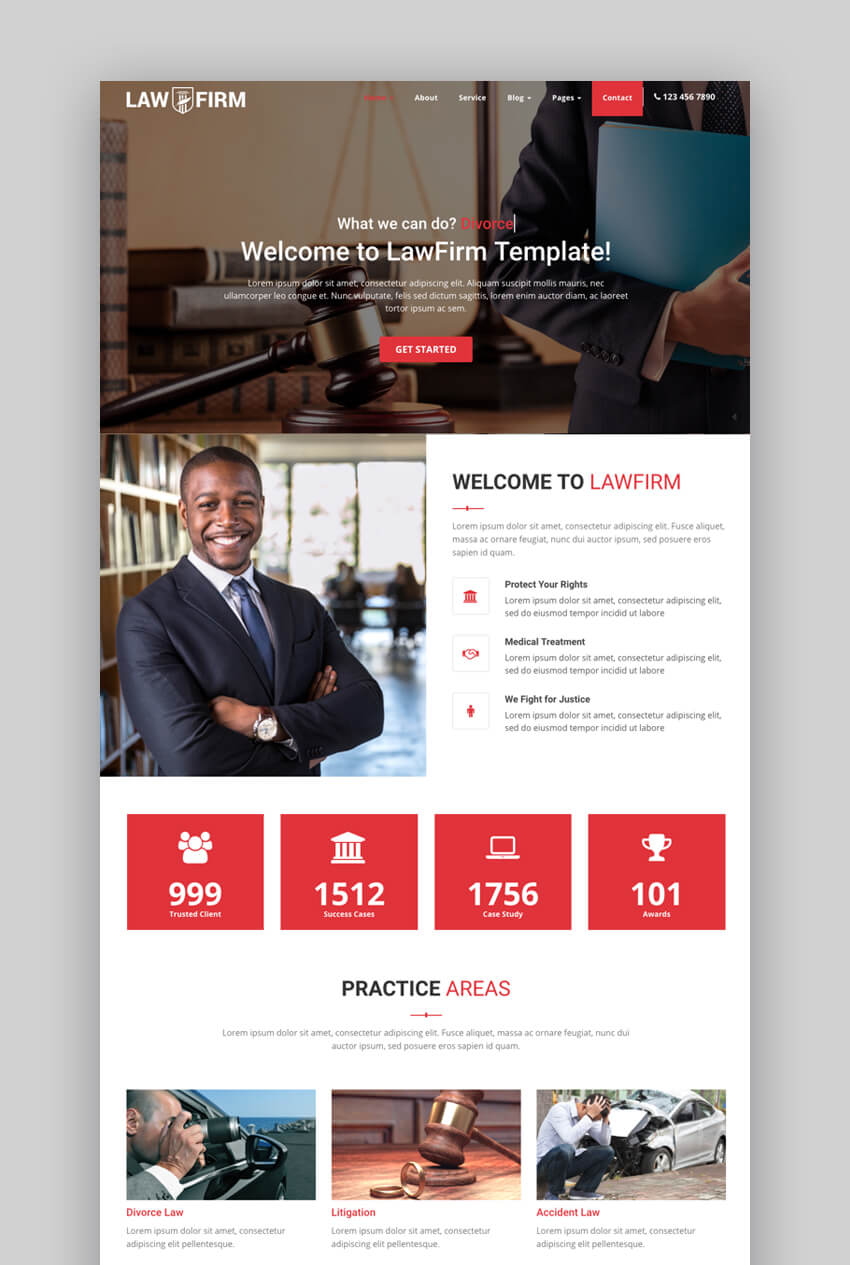 LawFirm multipurpose attorney website