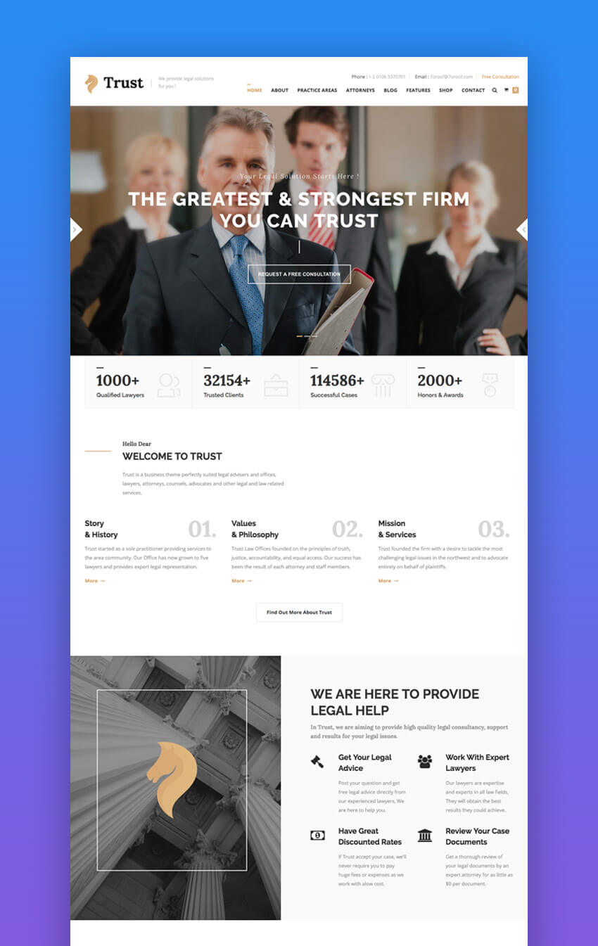 15 top responsive html lawyer law firm website templates