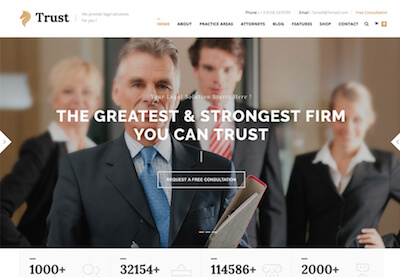 Law firm website featured