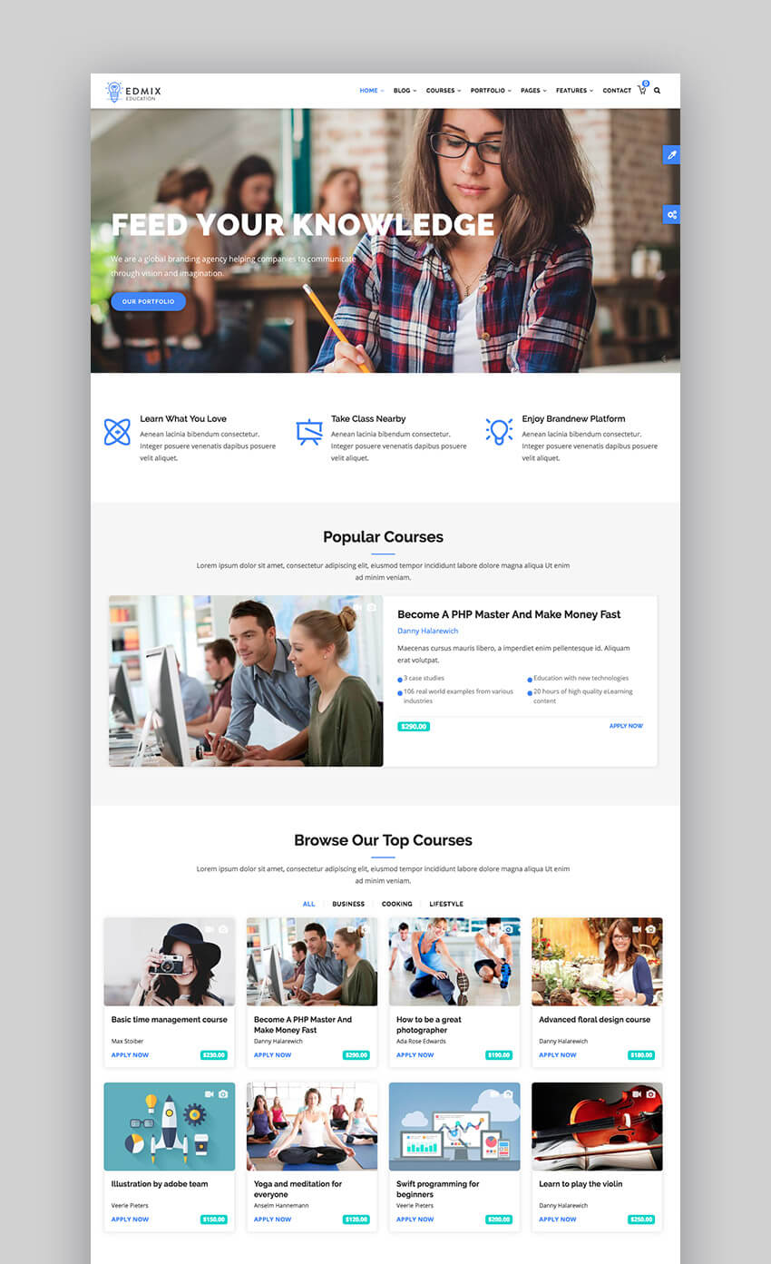 EdMix education Drupal theme