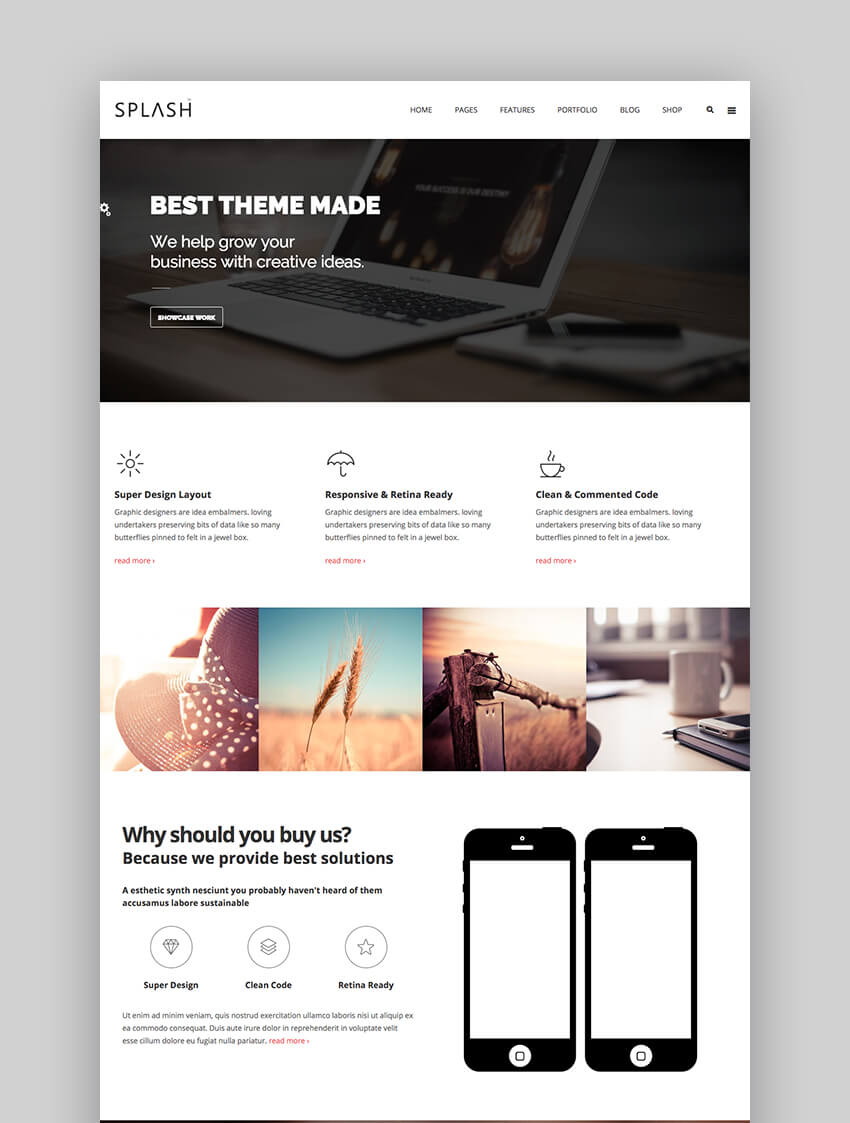 Splash professional Drupal theme