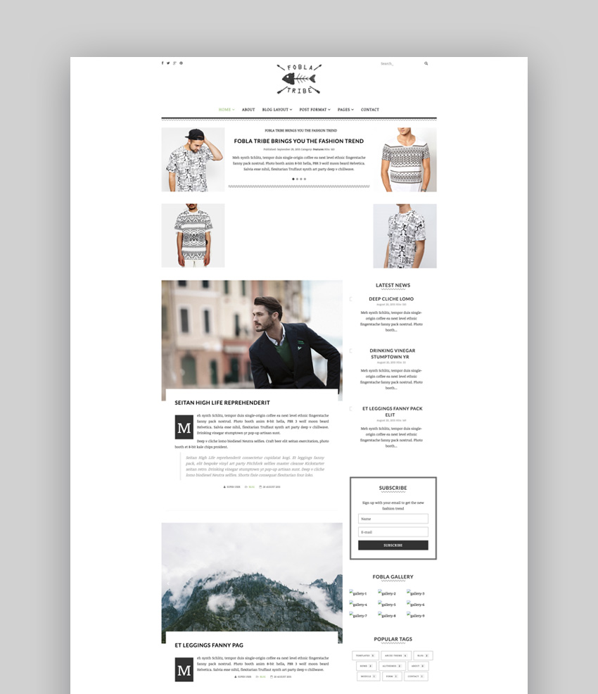 FoblaTribe blog template