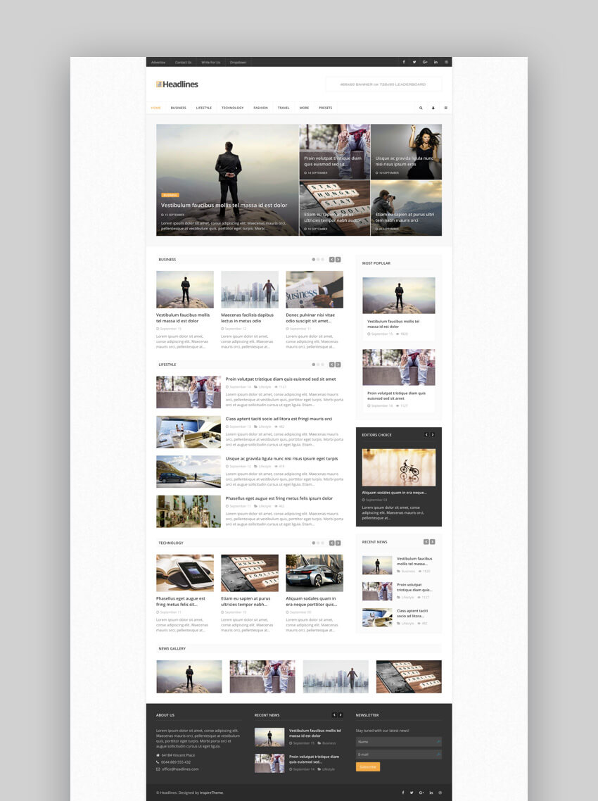 IT Headlines Joomla template