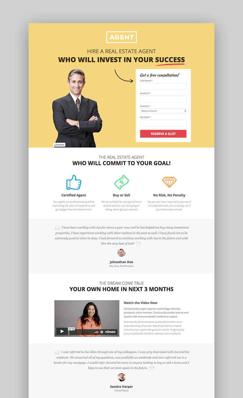Agents multipurpose landing page template
