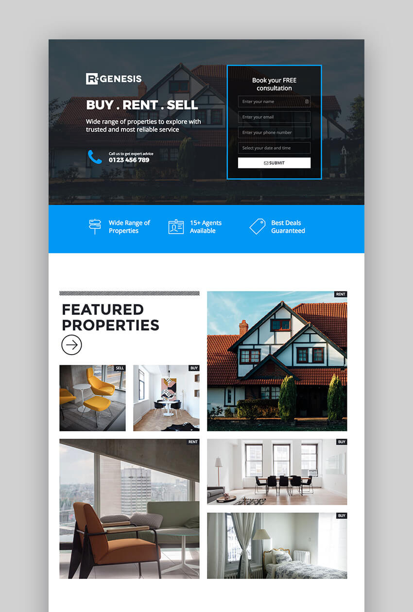 LeadPack landing page templates for real estate