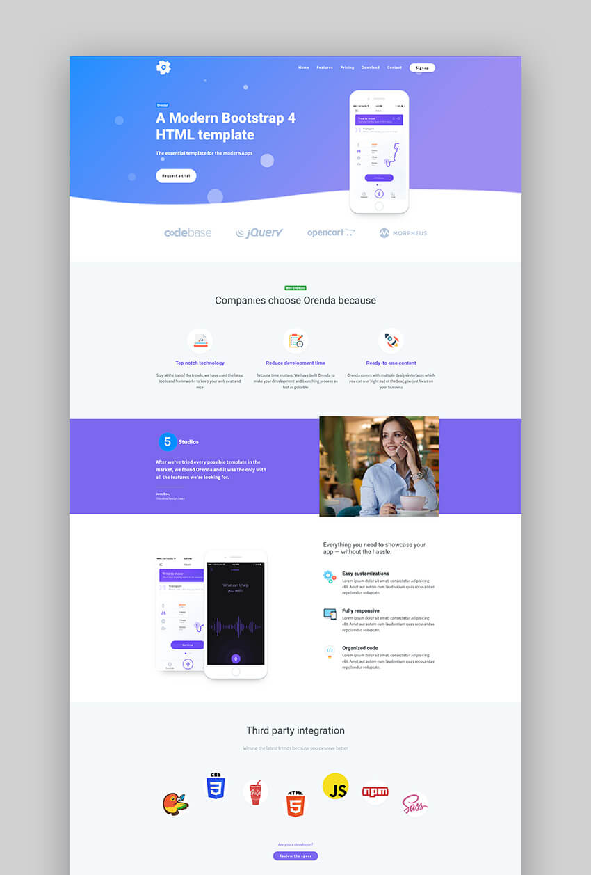19 Best Mobile App Landing Page Template Designs 2020 Examples