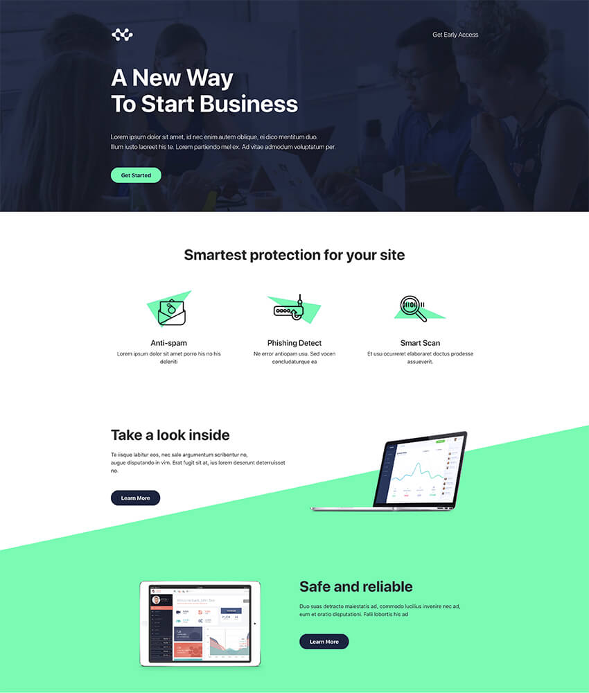 Atlas Clean Landing Page Free Template