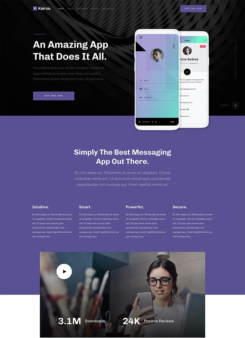 25 Best Free Splash Landing Page Templates For 2019