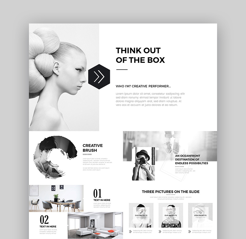 30 Creative Design Powerpoint Template Download