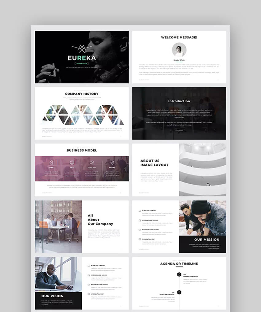 Eureka Powerful PowerPoint Template