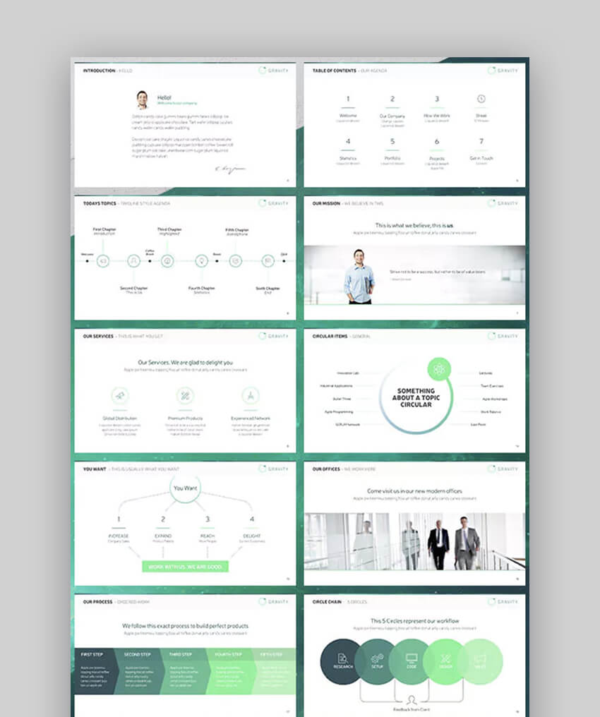 Gravity Cool Modern Powerpoint Template