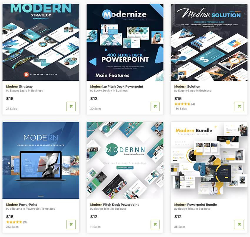 GraphicRiver Modern Presentation Templates