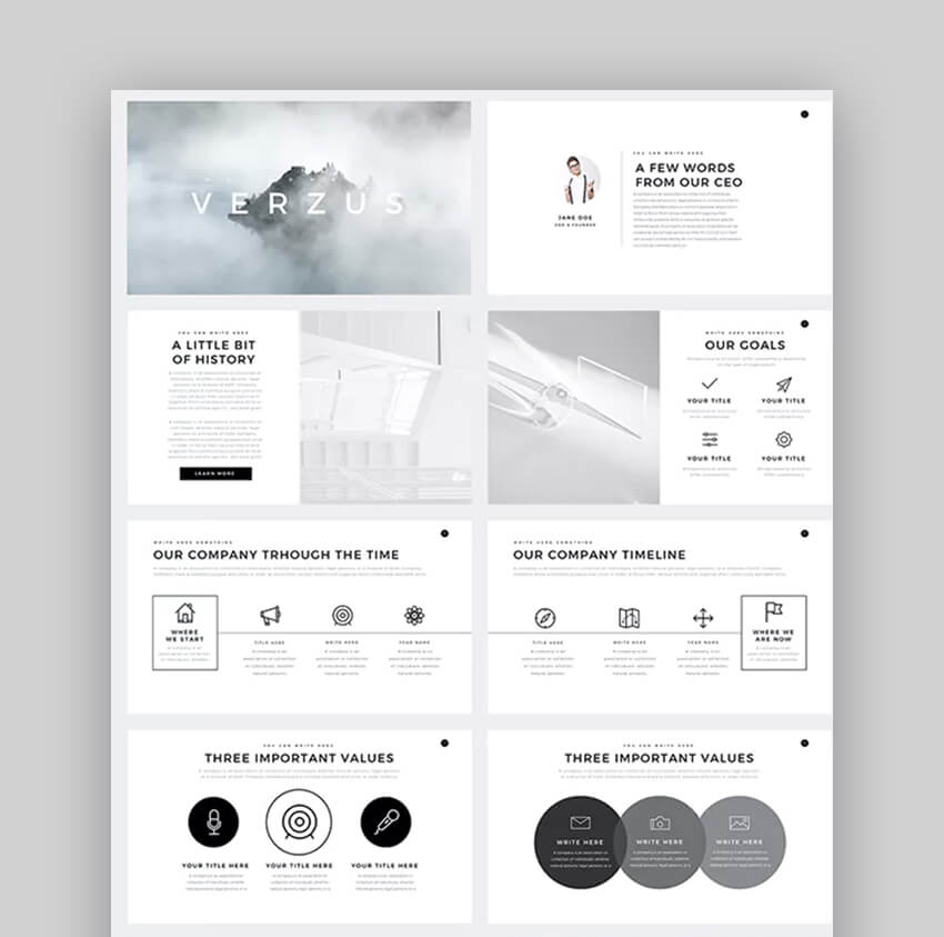 Verzus PowerPoint Template