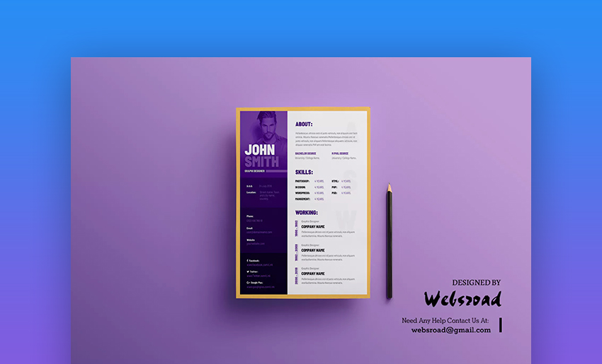 Creative Resume Visual Resume and CV Template